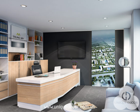 Thiết kế nội thất phòng giám đốc ấn tượng