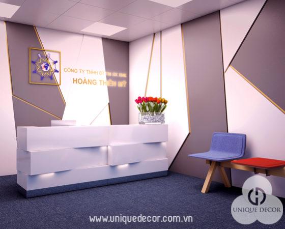 Thiết kế văn phòng công ty thời trang Hoàng Thiên Mỹ
