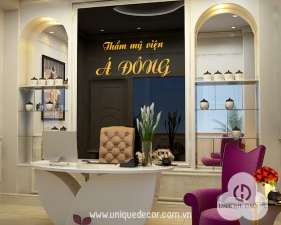 Thiết kế nội thất thẩm mỹ viện Á Đông