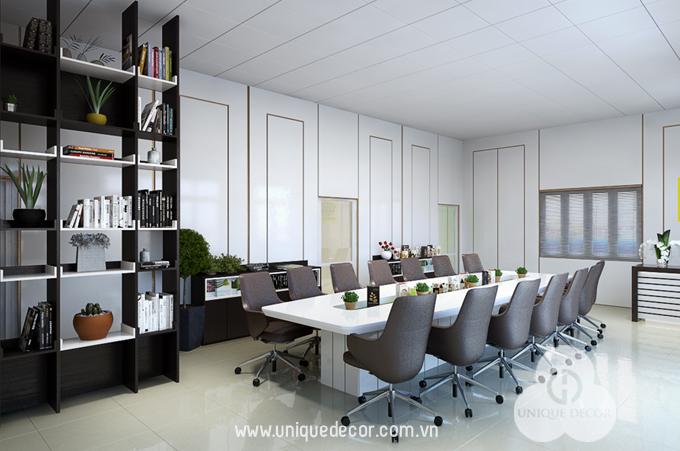 Thi công thiết kế phòng họp diện tích nhỏ