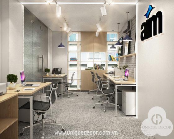 Thiết kế văn phòng công ty Truyền Thông AIM
