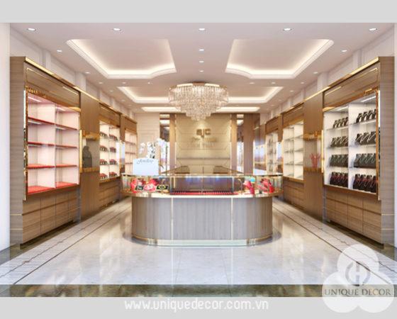 Thiết kế nội thất showroom nữ trang vàng bạc cao cấp