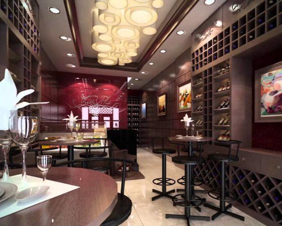 Ý tưởng thiết kế nội thất showroom rượu trưng bày độc đáo
