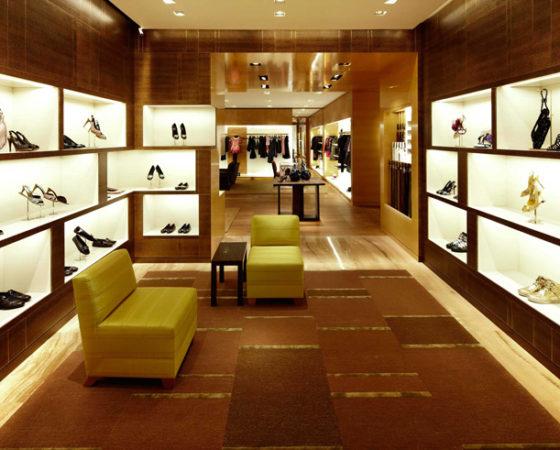 Nội thất cửa hàng Louis Vuitton London