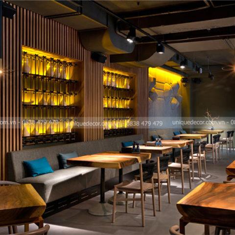 Báo giá thiết kế nội thất nhà hàng tphcm