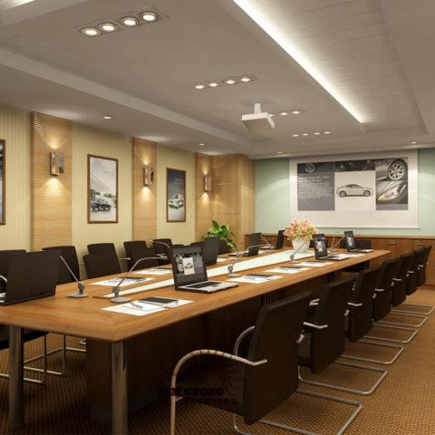 Lựa chọn công ty thi công nội thất phòng họp theo yêu cầu